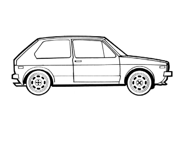 Golf Gti - Free Colouring Pages